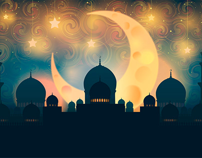 Mosque silhouette. Vector