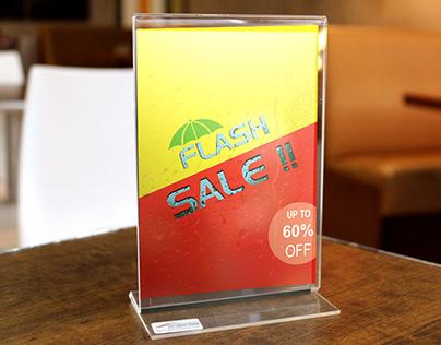 Acrylic table stand display branding