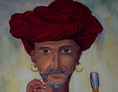 Oil on canvas - Turban Man