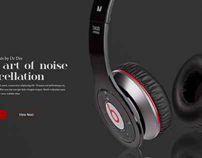 Beats Audio Landing page
