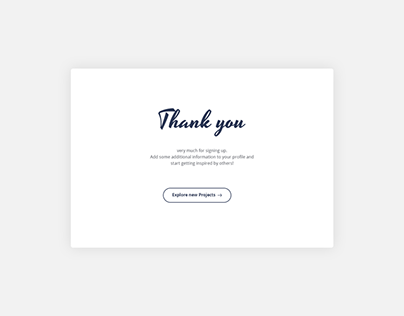 Daily UI | #077 | Thank you