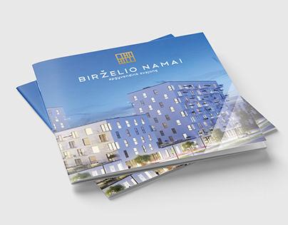 """Brochure design for real estate """"Birželio Namai"""""""