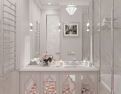 3d visualization of the bathroom.