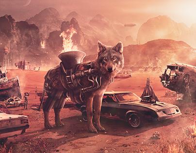 Dystopian Battle Wolf