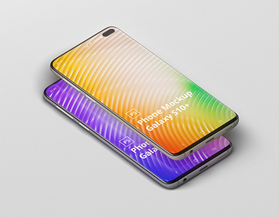 Phone Mockup Galaxy S10 Plus