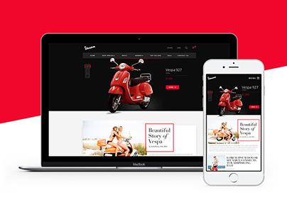 Motorcycle eCommerce Web Design
