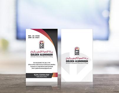 Golden Aluminium_Business Card