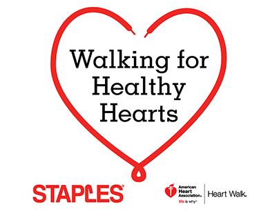 Staples Heart Walk T-Shirt Design