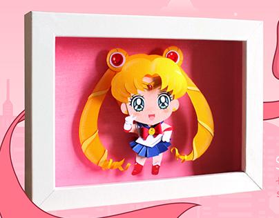 Sailor Moon Chibi - Paper Cut Illustrations