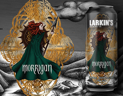 Morrigan: Beer Label Illustration and Design