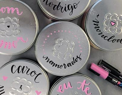 Lettering campaign for Moncloa Tea Boutique