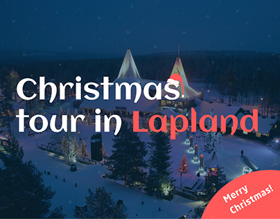 Landing page for Christmas tour in Lapland