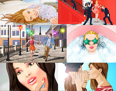 Beauty advertising storyboards