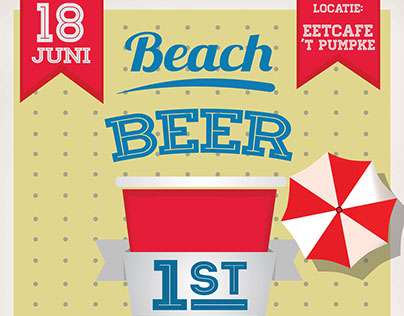 Poster - Beach beer pong tournament