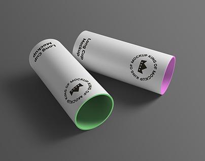 Long Cup PSD Mockup