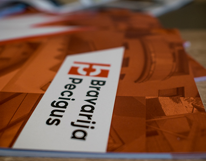 Bravarija Pecigus catalogue and notebook design