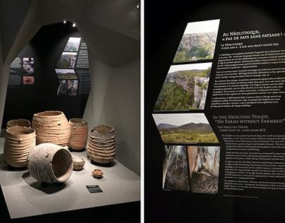 Musée de Lodève, design d'exposition