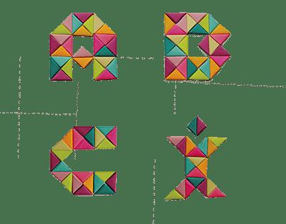 Origami Tipografía
