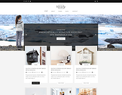 Hoary - Blogging PSD Template