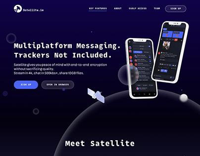 Website design concept for Satellite.im startup