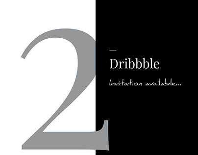 2 Dribbble Invitaion available. Looking for minimalists