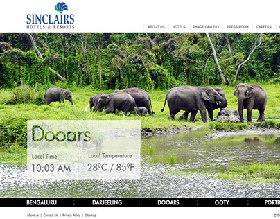 Sinclairs Hotels & Resorts - Website Redesign