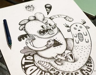 Gallo ilustrado 2