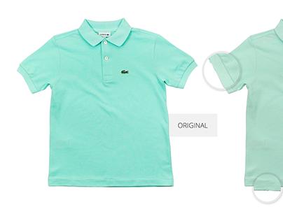 dbee962c2 Original vs Fake Lacoste Polo-shirt Branding Mockup