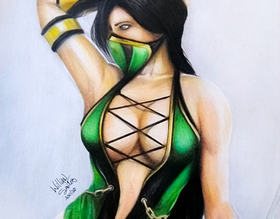 Jade - Mortal Kombat - Drawing with colored pencils
