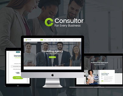 Consultor | A Business Financial Advisor PSD Template
