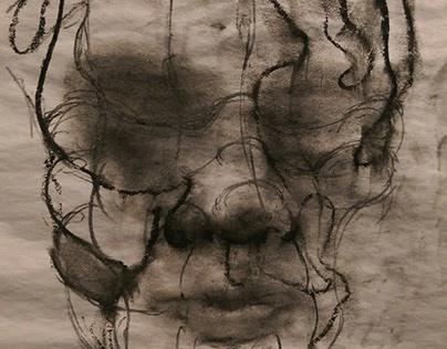 Self-Portraits (Wet Charcoal Series) 2015