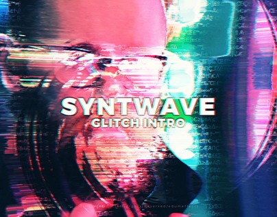 Retrowave, Synthwave, Glitch Intro, 4K