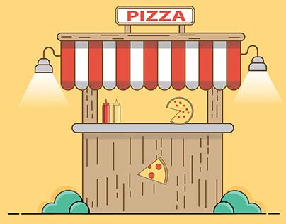 Flat Pizza Hut Background