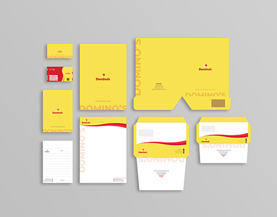 Domino's Corporate Stationery Redesign