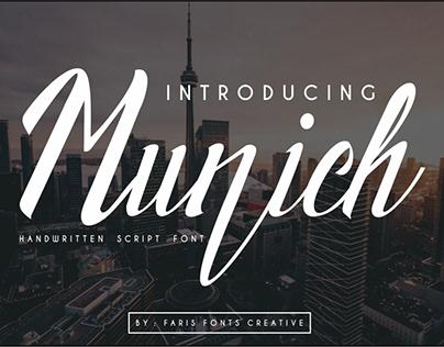Munich Font Hand Written & Script Elegant Font