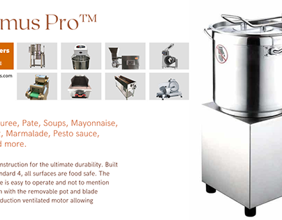 Make your life easy with Hummus Pro Machine