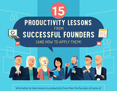 :::15 Productivity Lessons from Successful Founders:::