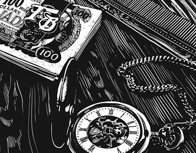 The Gentleman's Kit - Lino Prints