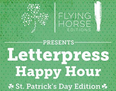 Letterpress Happy Hour Flyers
