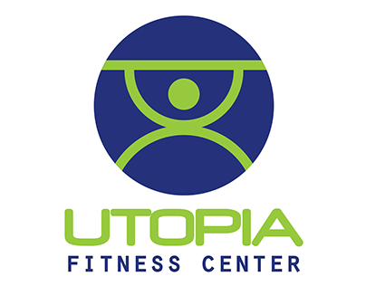 Utopia Fitness Center Logo Design