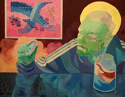 """""""Przekonanie"""", acrylic painting"""