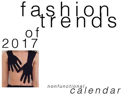 Calendar «fashion trends of 2017»