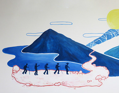 mural painting for Hillmont Tours, Taipei (2020)