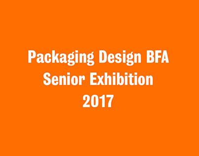 Packaging Design BFA Senior Exhibition 2017