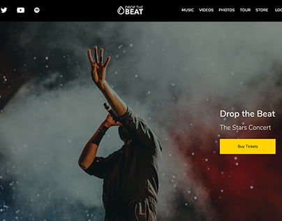XD Daily Challenge – Responsive Website for Musician