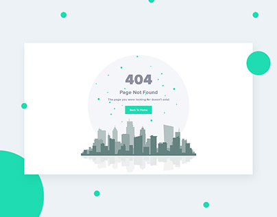 404 Page not found website design - Daily UI