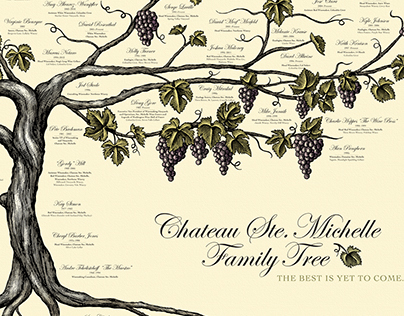 Chateau Ste. Michelle Family Tree Illustrated by Steven