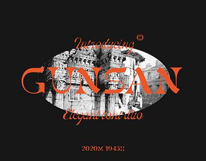 Gunsan Display Font