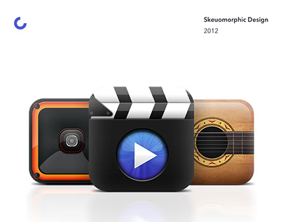 Skeuomorphic iOS Icons