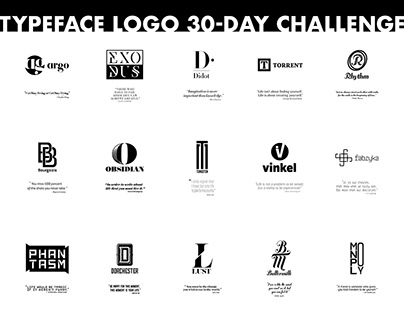 Typeface Logo 30-Day Poster